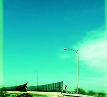 Blue Sky Swan Bridge Over 45 by Pipewrench67