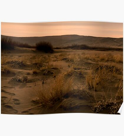Sand Dunes at Sunset Poster