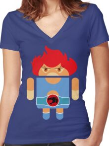 Droidarmy: Thunderdroid Lion-o no text Women's Fitted V-Neck T-Shirt
