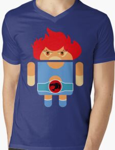 Droidarmy: Thunderdroid Lion-o no text Mens V-Neck T-Shirt