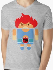 Droidarmy: Thunderdroid Lion-o no text Mens V-Neck T-Shirt