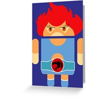 Droidarmy: Thunderdroid Lion-o no text Greeting Card