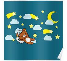 Starry Night ~ Rilakkuma  Poster
