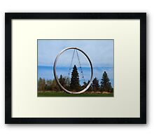 Tree In The Circle Framed Print