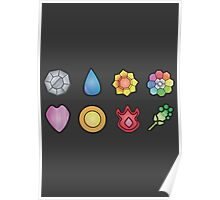 The Kanto Gym Badges Poster
