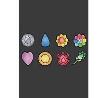 The Kanto Gym Badges Photographic Print