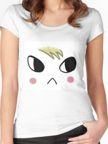 animal crossing marshal face Women's Fitted Scoop T-Shirt