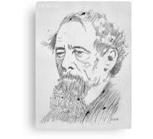 great men series:charles dickens Canvas Print