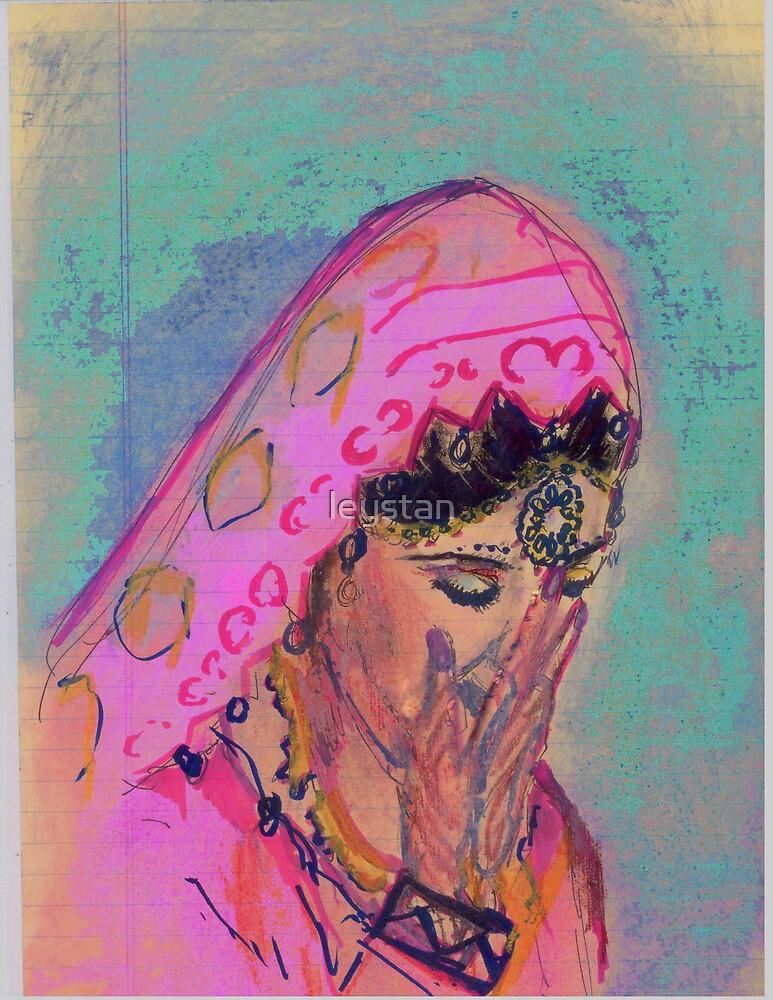 Spring Bride: A Pastel Interpretation of Rakesh Syal's Blushing Bride. by leystan