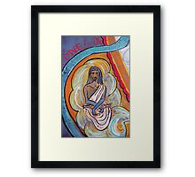 Cloud Yogi • From Chalk Meditation #9 • May 2006 Framed Print