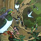 Pigeons, Parakeets and Fantails by Patricia Howitt