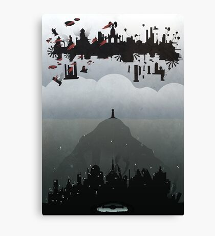 Bioshock- 2 worlds Canvas Print