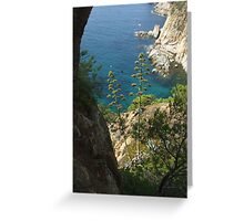 sea view - Tossa De Mar Greeting Card