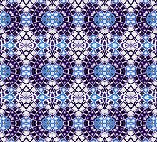 Blue, Silver and Black Abstract Design Pattern by Mercury McCutcheon