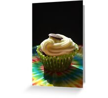 tiedye cupcake Greeting Card