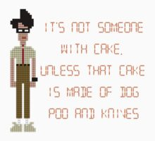 The IT Crowd – Dog Poo and Knives Cake by PonchTheOwl