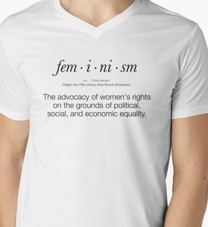 Feminism Defined Mens V-Neck T-Shirt