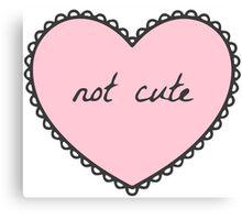 Not Cute Heart Canvas Print