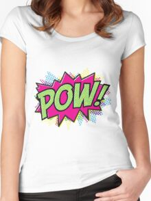 Pow! Cartoon Women's Fitted Scoop T-Shirt