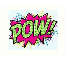 Pow! Cartoon Art Print