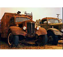 Trucks Under Smoke - Perris, CA Photographic Print