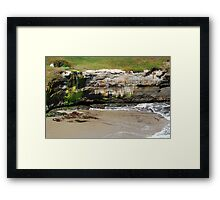 Coastal Recession Framed Print