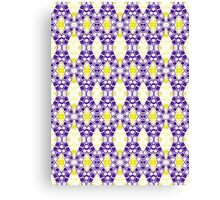 Purple, Yellow and White Abstract Design Pattern Canvas Print
