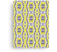 Blue, Yellow and White Abstract Design Pattern Canvas Print