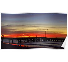 Jurien Bay Jetty Sunset Poster