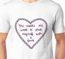Fork Candy Heart Unisex T-Shirt