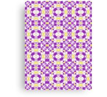 Yellow, Purple and White Abstract Design Pattern Canvas Print