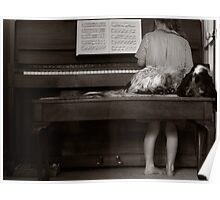Piano Puppy Poster