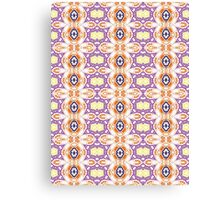 Yellow, Purple, Blue and Orange Abstract Design Canvas Print
