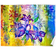 Clematis Summer Poster