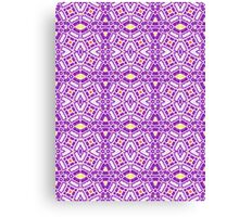 Yellow, Purple, and Orange Abstract Design Pattern Canvas Print