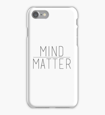 Mind Over Matter iPhone Case/Skin