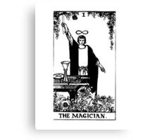 Black and White Magician Tarot Card  Canvas Print