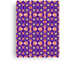 Purple, Yellow and Orange Abstract Design Pattern Canvas Print