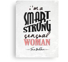 A Smart, Strong, Sensual Woman Canvas Print