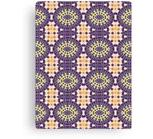 Blue, Yellow and Orange Abstract Design Pattern Canvas Print