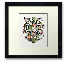Tropical Tiger Framed Print