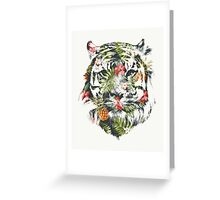 Tropical Tiger Greeting Card