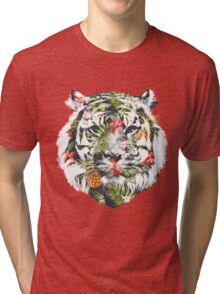 Tropical Tiger Tri-blend T-Shirt