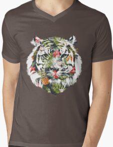 Tropical Tiger Mens V-Neck T-Shirt