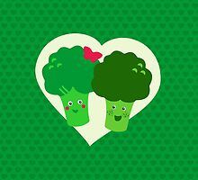Broccoli in love by XOOXOO