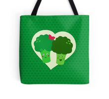 Broccoli in love Tote Bag