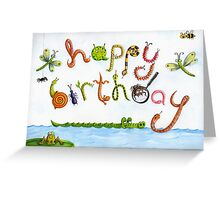 Bugs for boys birthdays Greeting Card