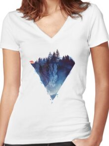 near to the edge Women's Fitted V-Neck T-Shirt