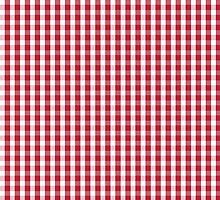 USA Flag Red and White Gingham Checked by podartist