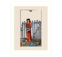 Eight of Swords Tarot Card Art Print